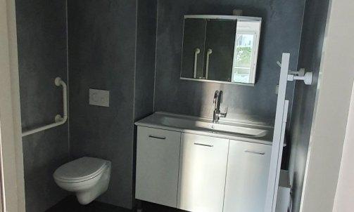Salle de bain d'un appartement rénové